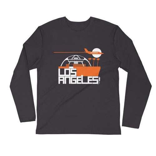 Los Angeles Flight Time Long Sleeve Men's T-Shirt T-Shirt 2XL designed by JOOLcity
