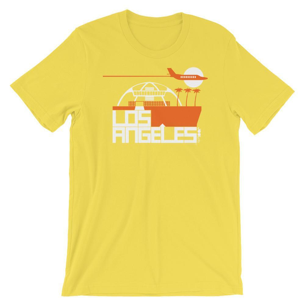 Los Angeles Flight Time Short-Sleeve Men's  T-Shirt T-Shirt Yellow / 2XL designed by JOOLcity
