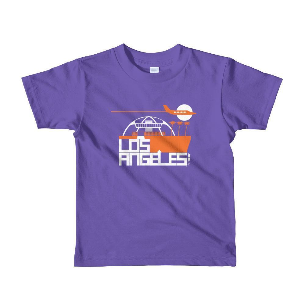 Los Angeles Flight Time Toddler Short-Sleeve T-Shirt T-Shirt Purple / 6yrs designed by JOOLcity