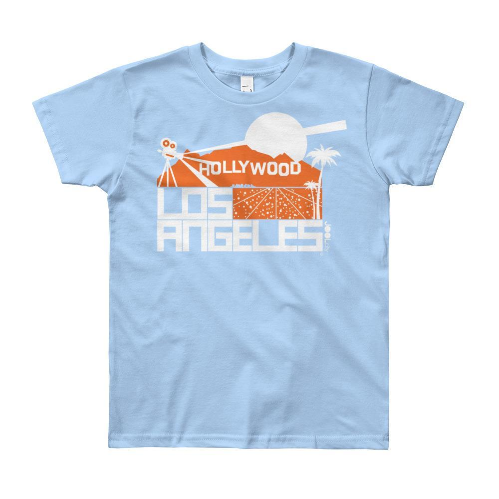 Los Angeles Hollywood Hiils Short Sleeve Youth T-shirt T-Shirt Baby Blue / 12yrs designed by JOOLcity