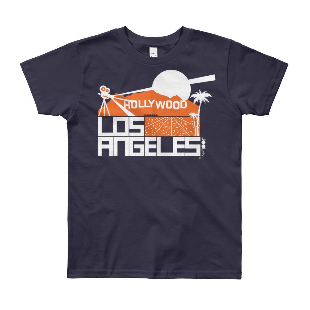 Los Angeles Hollywood Hiils Short Sleeve Youth T-shirt T-Shirt Navy / 12yrs designed by JOOLcity
