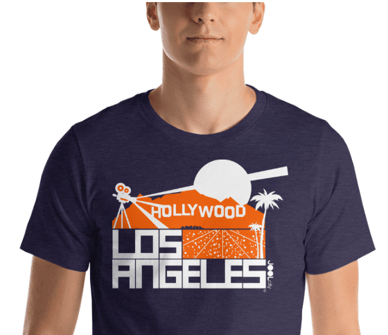 Los Angeles  Hollywood Hills Short-Sleeve Men's T-Shirt T-Shirt  designed by JOOLcity