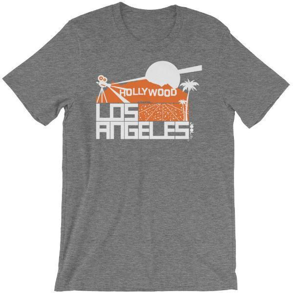 Los Angeles  Hollywood Hills Short-Sleeve Men's T-Shirt T-Shirt Deep Heather / 2XL designed by JOOLcity