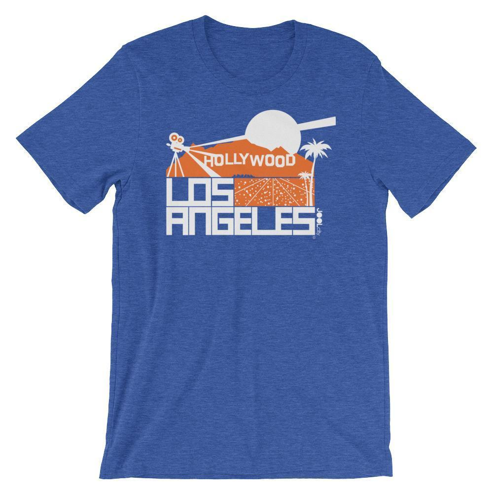 Los Angeles  Hollywood Hills Short-Sleeve Men's T-Shirt T-Shirt Heather True Royal / 2XL designed by JOOLcity