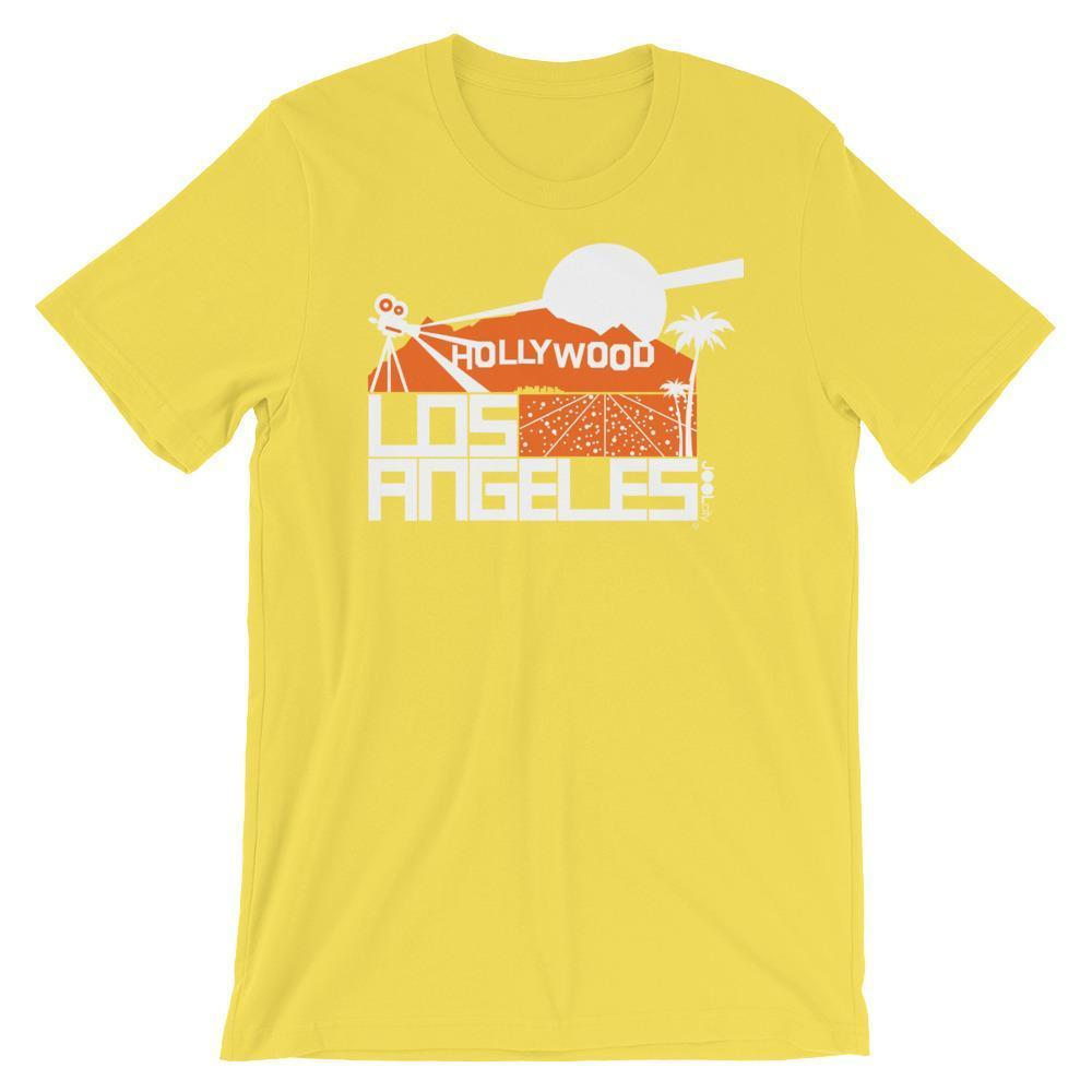 Los Angeles  Hollywood Hills Short-Sleeve Men's T-Shirt T-Shirt Yellow / 2XL designed by JOOLcity