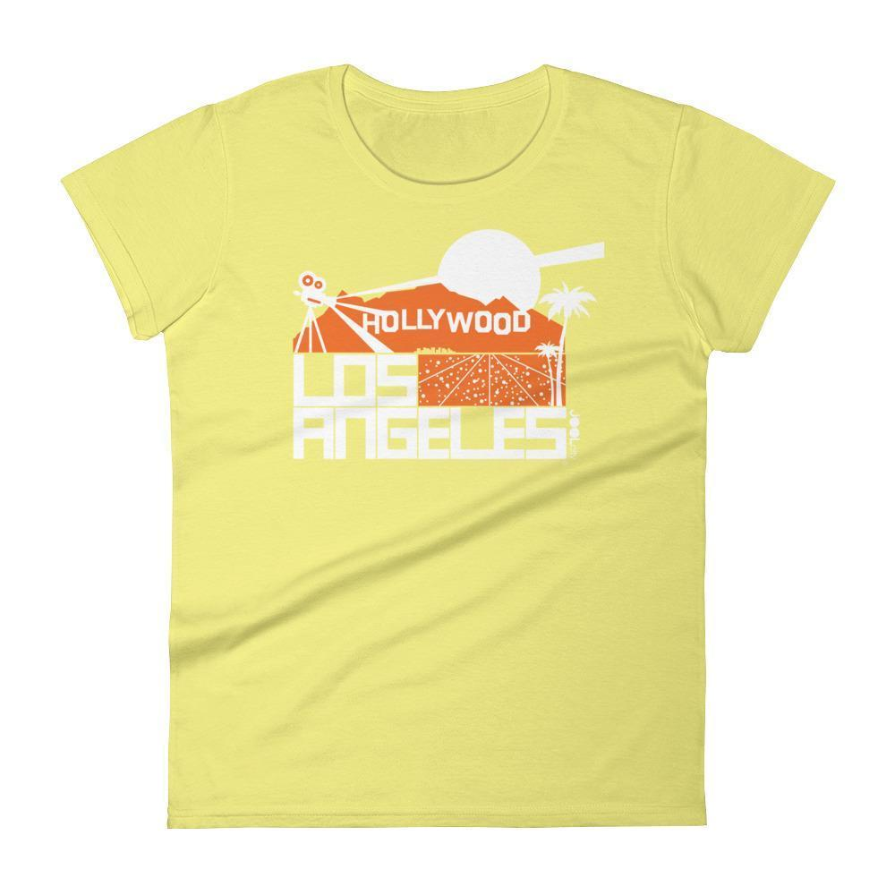 Los Angeles  Hollywood Hills  Women's  Short Sleeve T-Shirt T-Shirt Spring Yellow / 2XL designed by JOOLcity