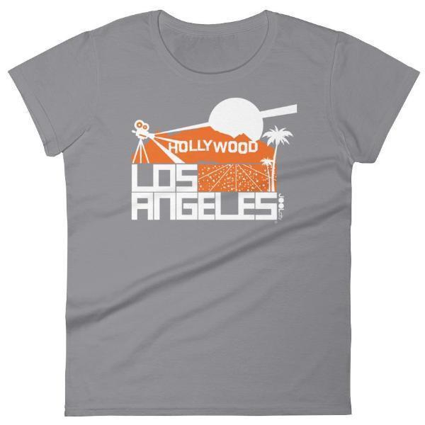 Los Angeles  Hollywood Hills  Women's  Short Sleeve T-Shirt T-Shirt Storm Grey / 2XL designed by JOOLcity