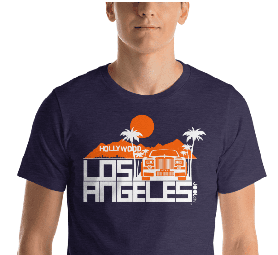 Los Angeles Hollywood Star Short-Sleeve Men's  T-Shirt T-Shirt  designed by JOOLcity