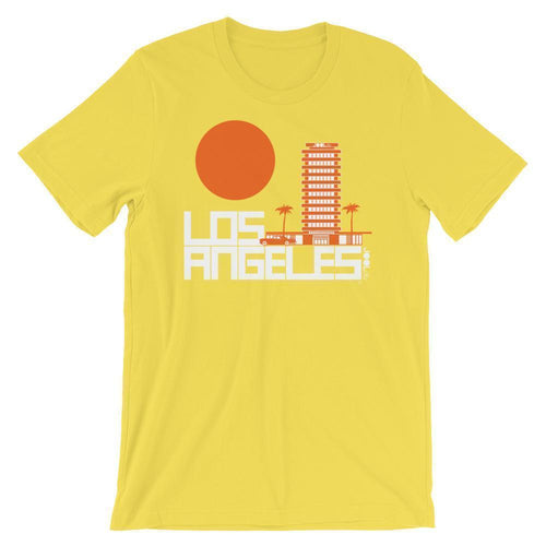 Los Angeles  JOOLcity Tower  Short-Sleeve Men's T-Shirt T-Shirt Yellow / 2XL designed by JOOLcity