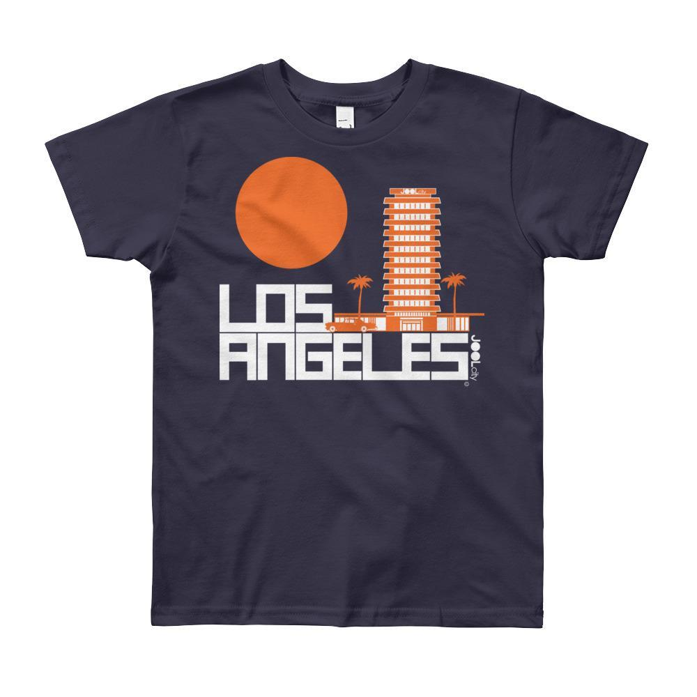 Los Angeles JOOLcity Tower Short Sleeve Youth T-shirt T-Shirt Navy / 12yrs designed by JOOLcity