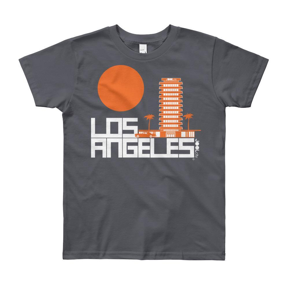 Los Angeles JOOLcity Tower Short Sleeve Youth T-shirt T-Shirt Slate / 12yrs designed by JOOLcity