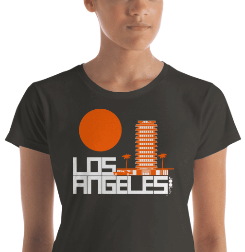 Los Angeles JOOLcity Tower Women's  Short Sleeve T-Shirt T-Shirt  designed by JOOLcity