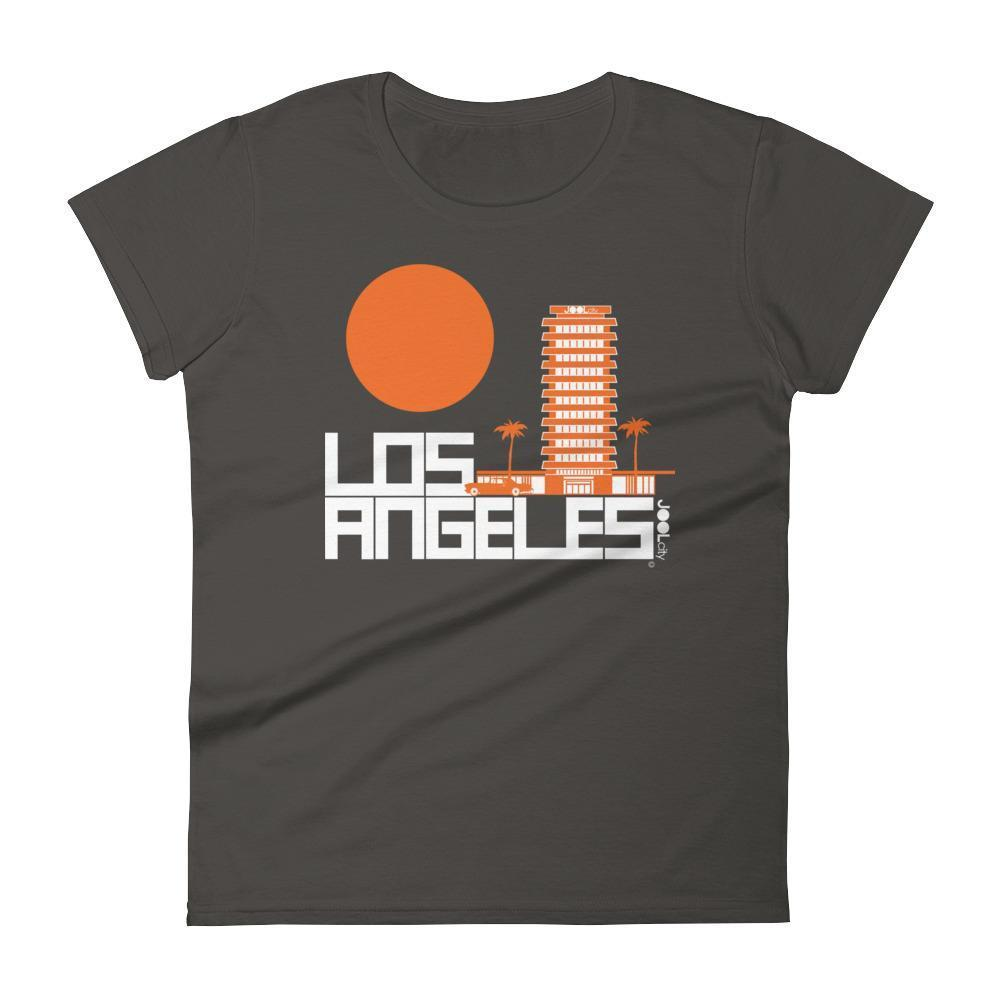 Los Angeles JOOLcity Tower Women's  Short Sleeve T-Shirt T-Shirt Smoke / 2XL designed by JOOLcity
