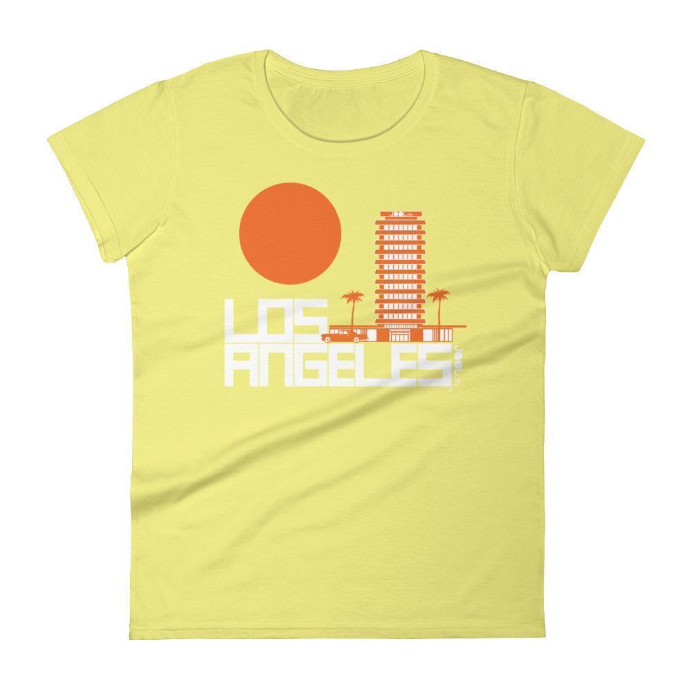 Los Angeles JOOLcity Tower Women's  Short Sleeve T-Shirt T-Shirt Spring Yellow / 2XL designed by JOOLcity
