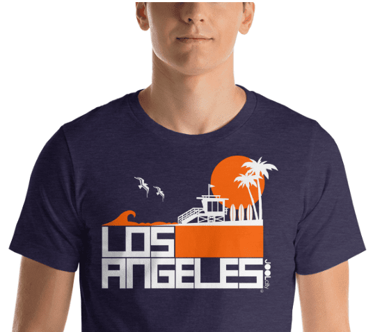 Los Angeles  Lifeguard Love  Short-Sleeve Unisex Men's T-Shirt  designed by JOOLcity