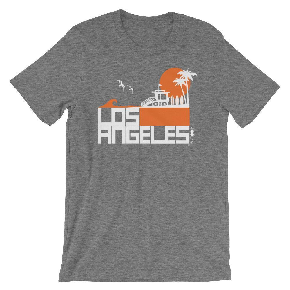 Los Angeles  Lifeguard Love  Short-Sleeve Unisex Men's T-Shirt Deep Heather / 2XL designed by JOOLcity