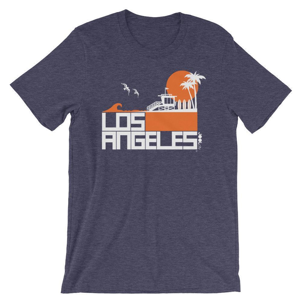 Los Angeles  Lifeguard Love  Short-Sleeve Unisex Men's T-Shirt Heather Midnight Navy / 2XL designed by JOOLcity