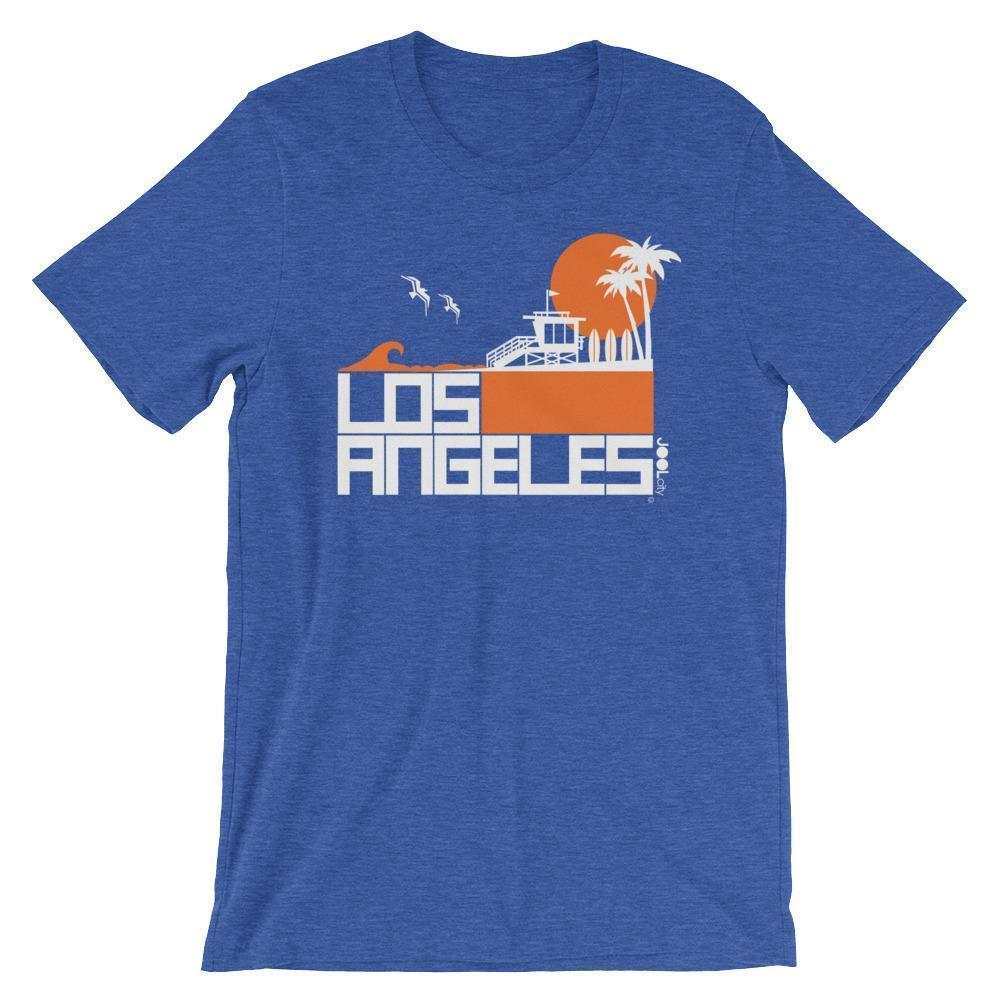 Los Angeles  Lifeguard Love  Short-Sleeve Unisex Men's T-Shirt Heather True Royal / 2XL designed by JOOLcity