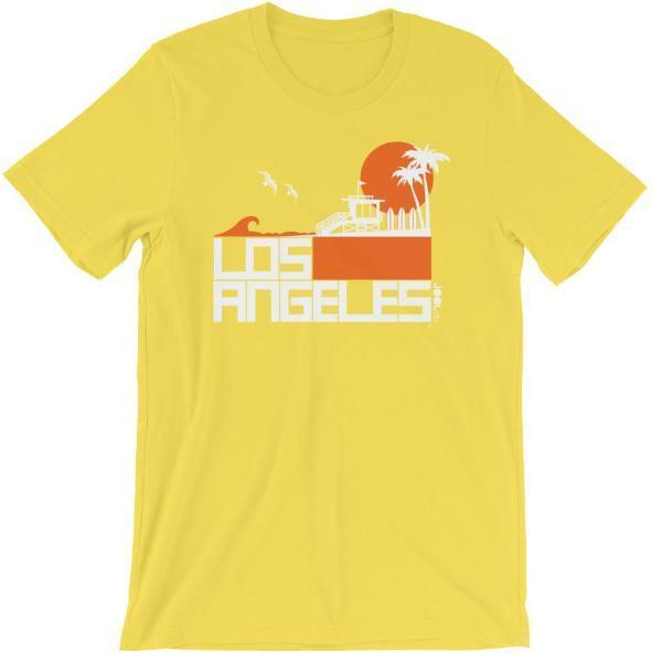 Los Angeles  Lifeguard Love  Short-Sleeve Unisex Men's T-Shirt Yellow / 2XL designed by JOOLcity