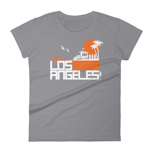 Los Angeles  Lifeguard Love  Women's  Short Sleeve T-Shirt T-Shirt Storm Grey / 2XL designed by JOOLcity