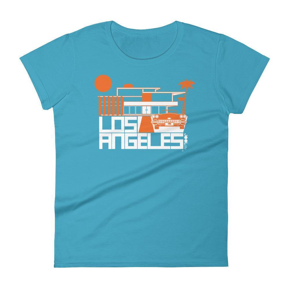 Los Angeles  Mod-House Ride  Women's  Short Sleeve T-Shirt T-Shirt Caribbean Blue / 2XL designed by JOOLcity