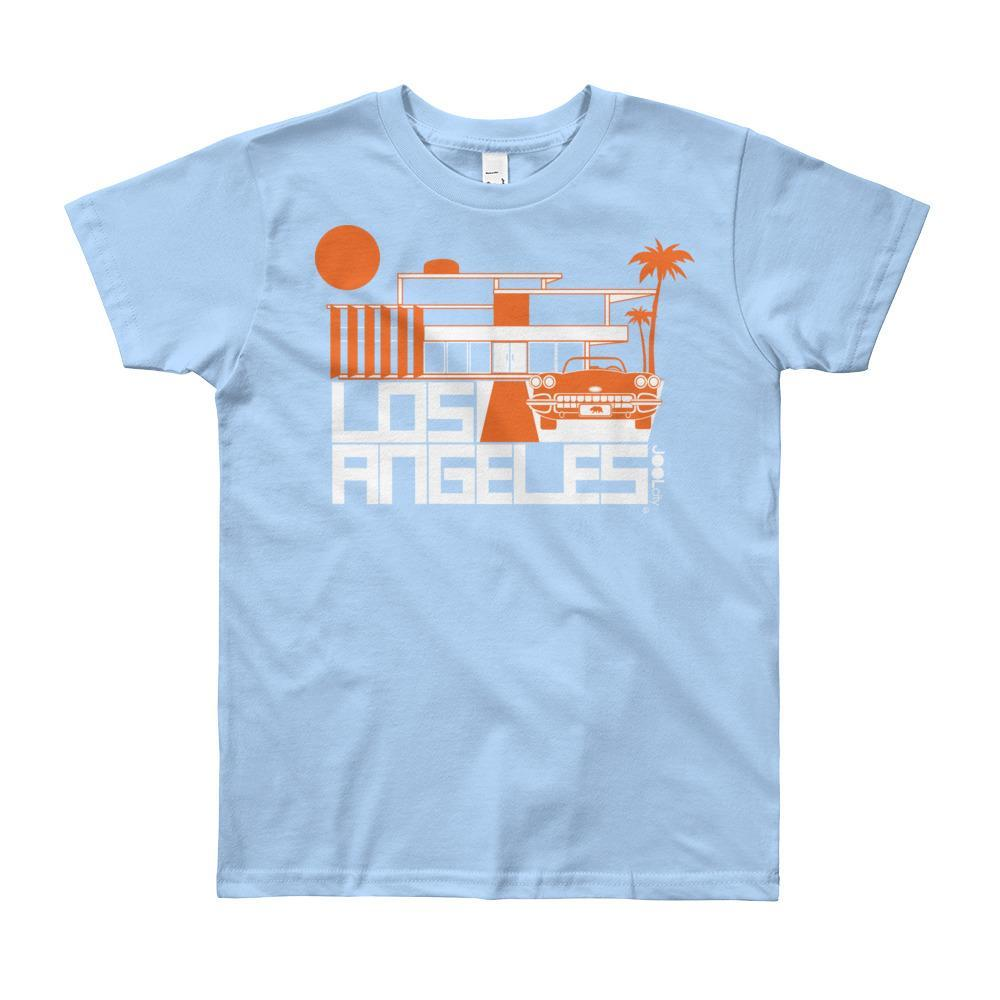 Los Angeles ModHouse Short Sleeve Youth T-shirt  Baby Blue / 12yrs designed by JOOLcity