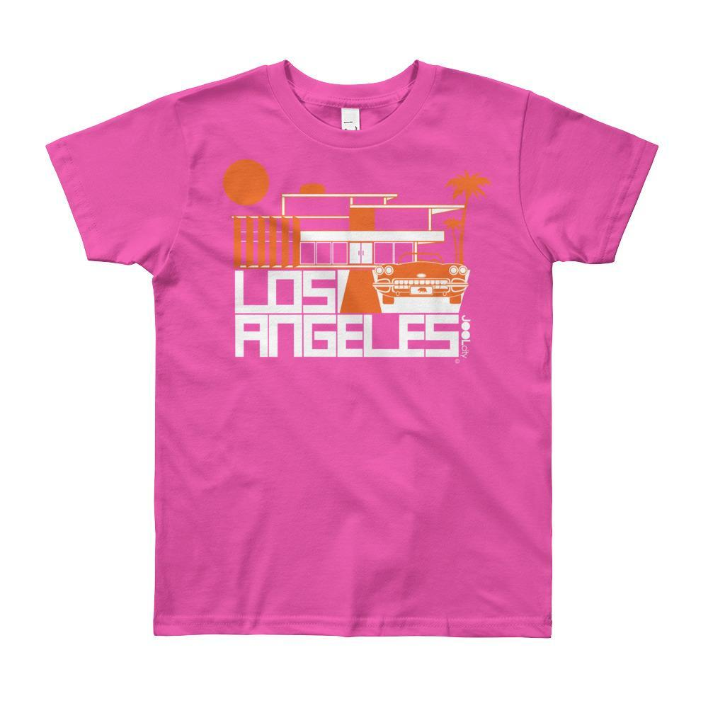 Los Angeles ModHouse Short Sleeve Youth T-shirt  Fuchsia / 12yrs designed by JOOLcity