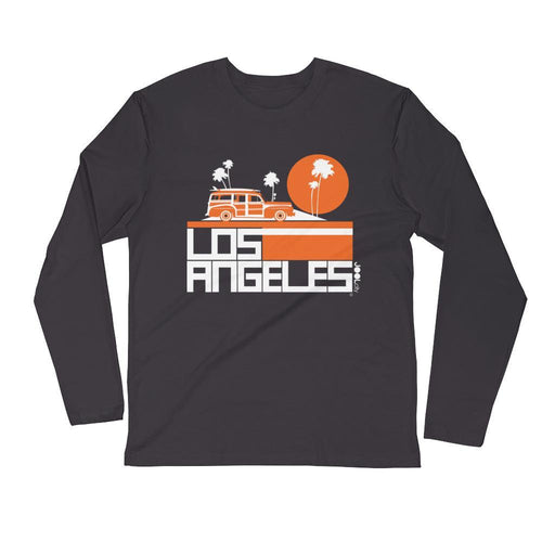 Los Angeles Woody Wagon Long Sleeve Men's T-Shirt T-Shirt 2XL designed by JOOLcity