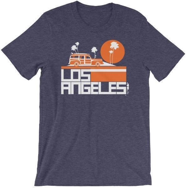 Los Angeles  Woody Wagon  Short-Sleeve Men's T-Shirt T-Shirt Heather Midnight Navy / 2XL designed by JOOLcity