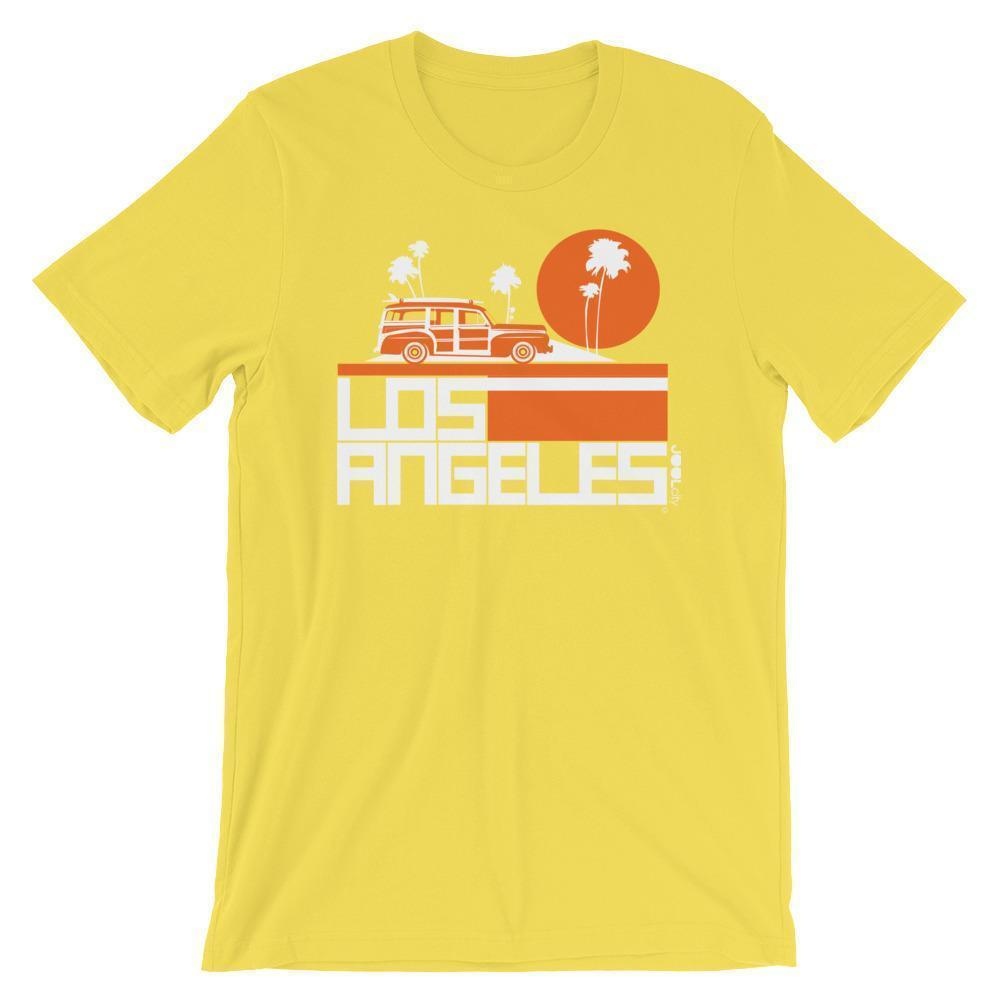 Los Angeles  Woody Wagon  Short-Sleeve Men's T-Shirt T-Shirt Yellow / 2XL designed by JOOLcity