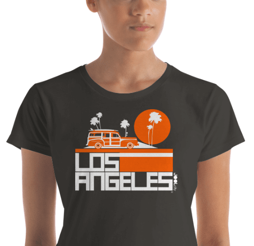 Los Angeles  Woody Wagon  Women's  Short Sleeve T-Shirt T-Shirt  designed by JOOLcity