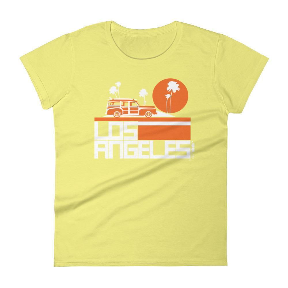 Los Angeles  Woody Wagon  Women's  Short Sleeve T-Shirt T-Shirt Spring Yellow / 2XL designed by JOOLcity