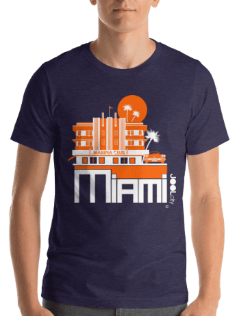 Miami Beach Vette Short-Sleeve Men's  T-Shirt T-Shirt  designed by JOOLcity