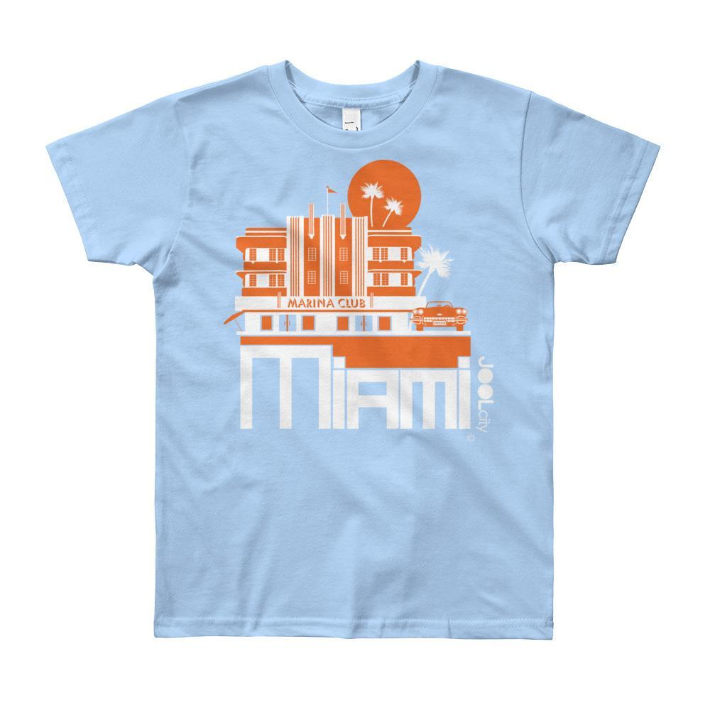 Miami Beach Vette Short Sleeve Youth T-shirt T-Shirt Baby Blue / 12yrs designed by JOOLcity