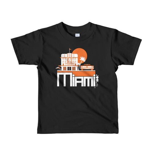 Miami Deco Ride Toddler Short-Sleeve T-Shirt T-Shirt Black / 6yrs designed by JOOLcity