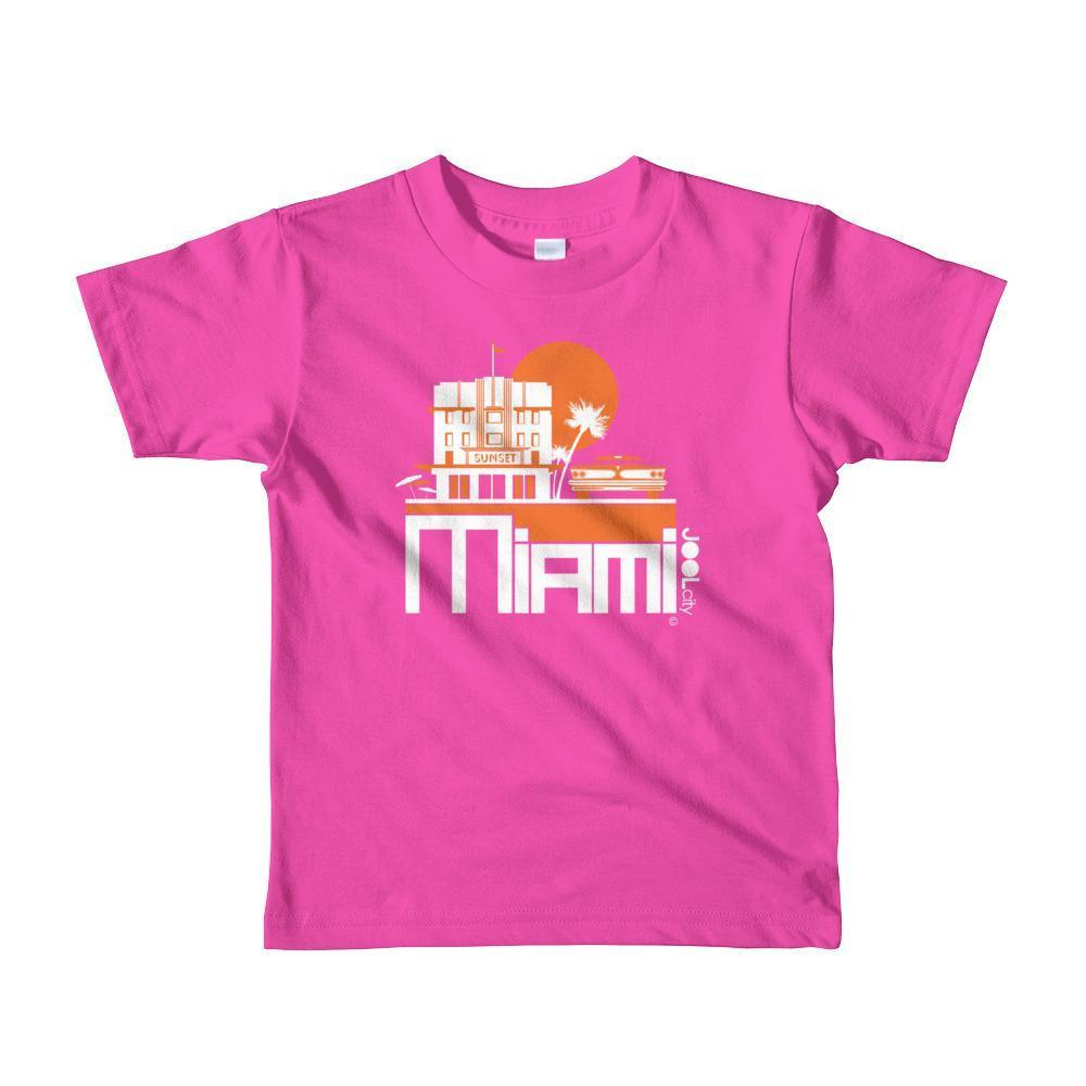 Miami Deco Ride Toddler Short-Sleeve T-Shirt T-Shirt Fuchsia / 6yrs designed by JOOLcity