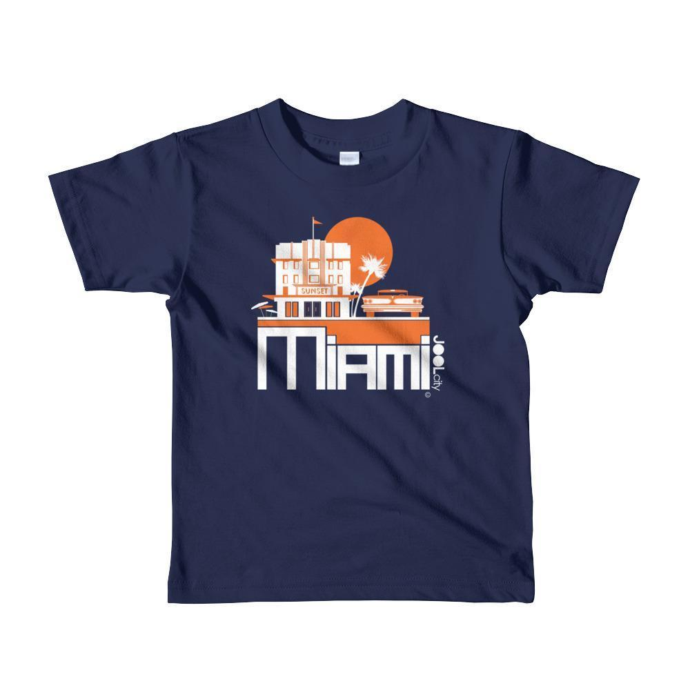 Miami Deco Ride Toddler Short-Sleeve T-Shirt T-Shirt Navy / 6yrs designed by JOOLcity