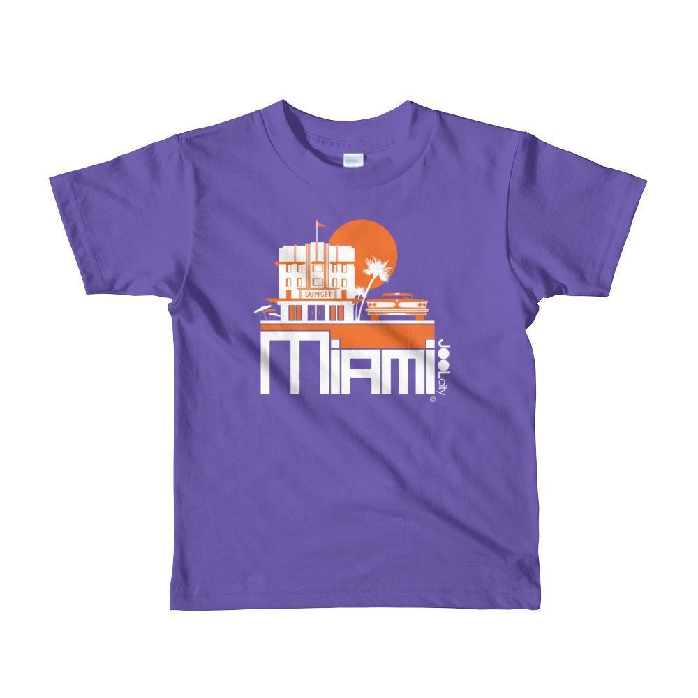 Miami Deco Ride Toddler Short-Sleeve T-Shirt T-Shirt Purple / 6yrs designed by JOOLcity