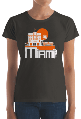 Miami Deco Ride Women's Short Sleeve T-shirt T-Shirt  designed by JOOLcity