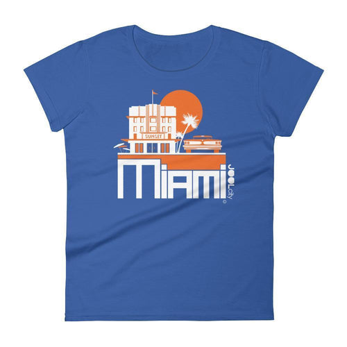 Miami Deco Ride Women's Short Sleeve T-shirt T-Shirt Royal Blue / 2XL designed by JOOLcity