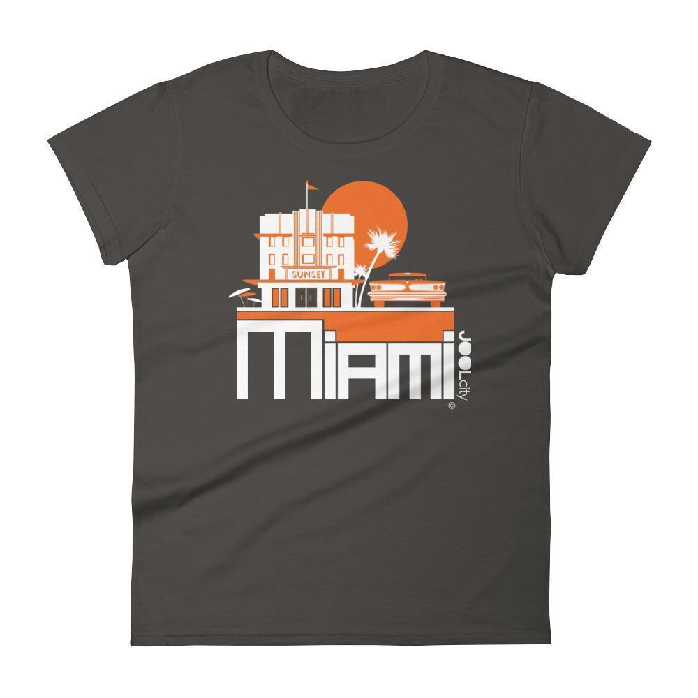 Miami Deco Ride Women's Short Sleeve T-shirt T-Shirt Smoke / 2XL designed by JOOLcity