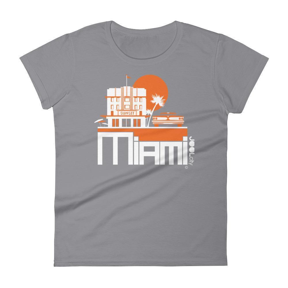 Miami Deco Ride Women's Short Sleeve T-shirt T-Shirt Storm Grey / 2XL designed by JOOLcity