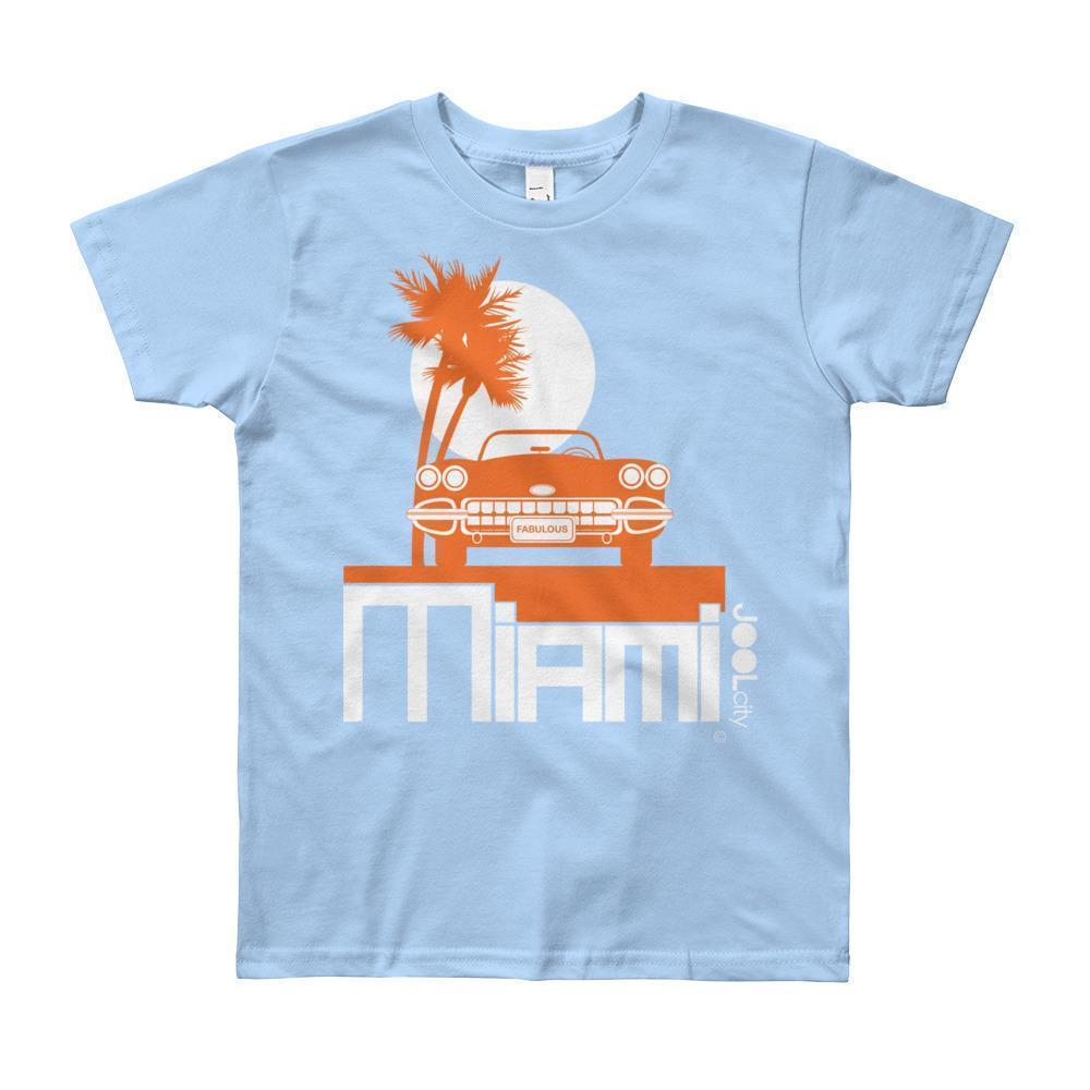 Miami Palm Cruise Short Sleeve Youth T-shirt T-Shirt Baby Blue / 12yrs designed by JOOLcity