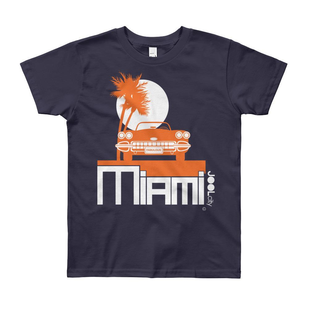 Miami Palm Cruise Short Sleeve Youth T-shirt T-Shirt Navy / 12yrs designed by JOOLcity