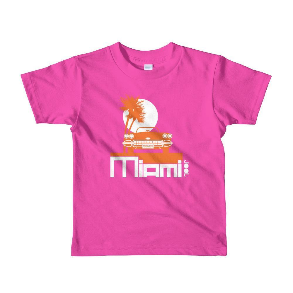 Miami Palm Cruise Toddler Short-Sleeve T-Shirt T-Shirt Fuchsia / 6yrs designed by JOOLcity