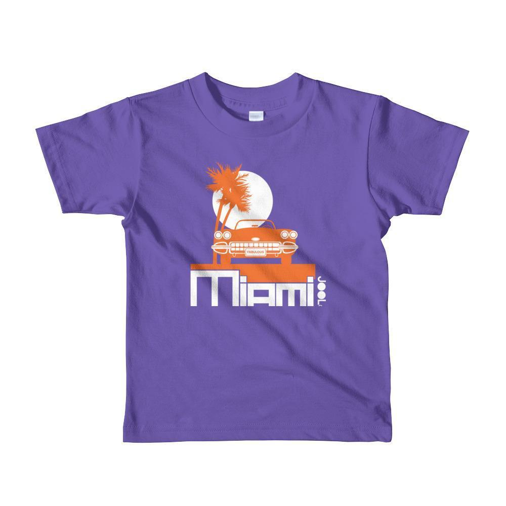 Miami Palm Cruise Toddler Short-Sleeve T-Shirt T-Shirt Purple / 6yrs designed by JOOLcity
