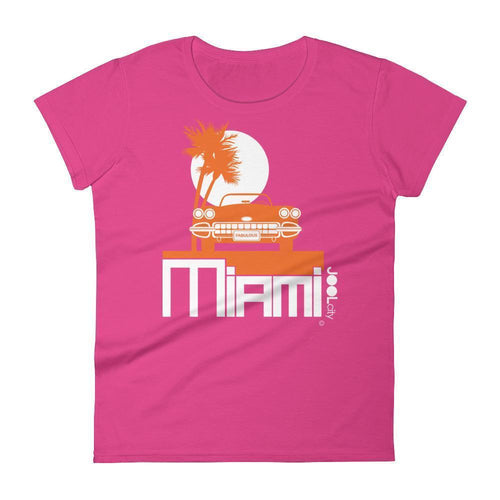 Miami Palm Cruise Women's Short Sleeve T-shirt T-Shirt Hot Pink / 2XL designed by JOOLcity