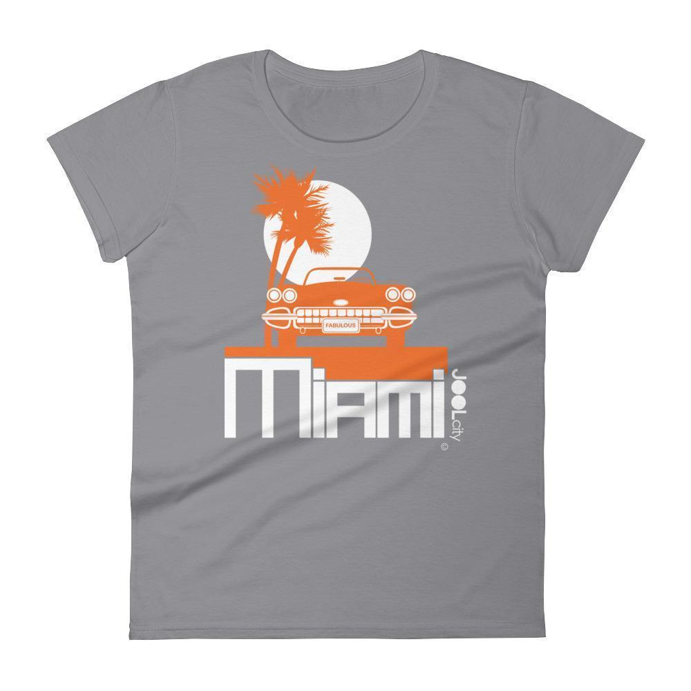 Miami Palm Cruise Women's Short Sleeve T-shirt T-Shirt Storm Grey / 2XL designed by JOOLcity