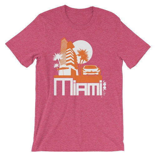 Miami Sleek City Short-Sleeve Men's T-Shirt T-Shirt Heather Raspberry / 2XL designed by JOOLcity