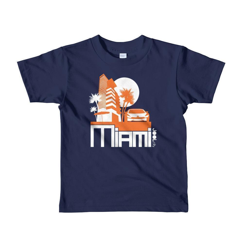 Miami Sleek City Toddler Short-Sleeve T-Shirt T-Shirt Navy / 6yrs designed by JOOLcity